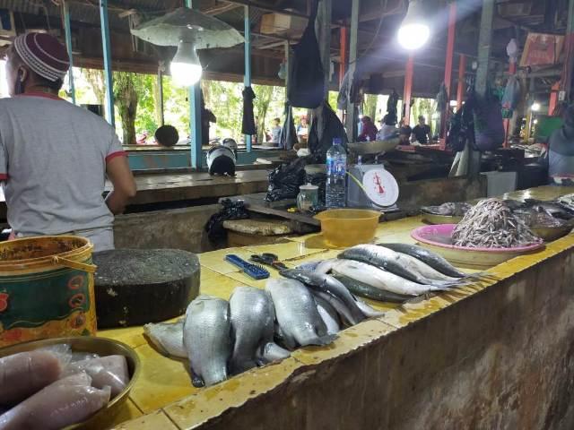 Pasar ikan di pasar Tenguyun Tarakan. Ekonomi Kaltara masih bertahan di tengah pandemi covid-19. (foto: jendelakaltara.co)