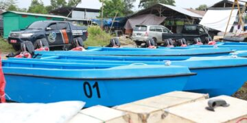 Bantuan kapal bagi nelayan di Kaltara yang disalurkan DKP Kaltara tahun lalu. (Humas Provinsi Kaltara)