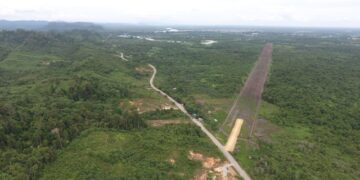 Kondisi lahan persiapan KBM Tanjung Selor yang terus berproses pembebasannya. (foto: Humas Provinsi Kaltara)