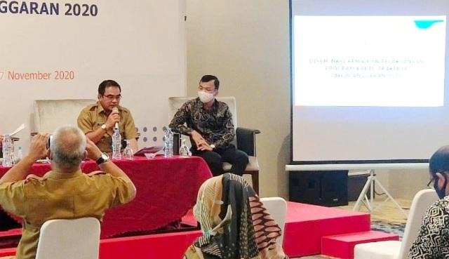 Sekrprov Kaltara, H Suriansyah menghadiri Diseminasi Program Kartu Prakerja di Hotel Luminor, Selasa (17/11). (foto: Humas Pemprov Kaltara)