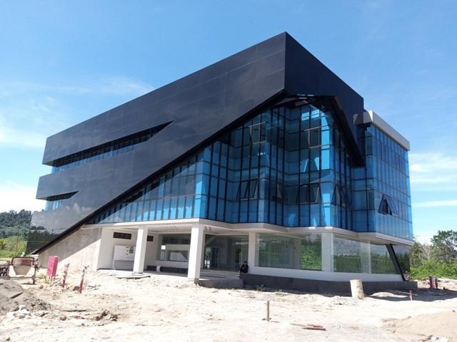 Gedung kantor Inspektorat Kaltara yang dibangun di rencana lokasi KBM Tanjung Selor. (foto: Humas Provinsi Kaltara)