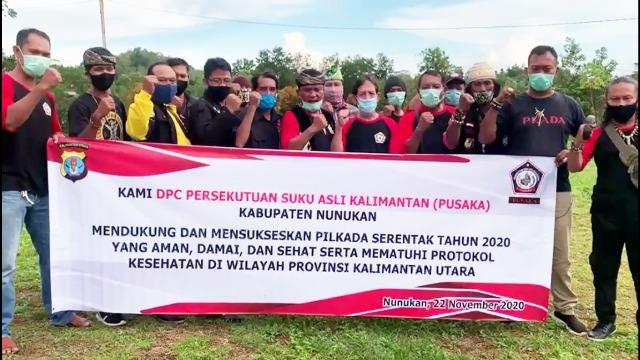 Pengurus dan Anggota DPC Pusaka Kabupaten Nunukan deklarasikan dukungan terhadap suksesnya pelaksanaan pilkada serentak 2020. (foto: istimewa)