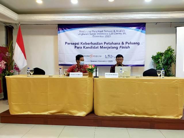 Rilis hasil survei KCI – LSI di Hotel Lotus Panaya, Tarakan, Rabu (2/12/2020). (foto: jendelakaltara.co)