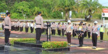 Upacara PDTH di lapangan Tribrata Polres Nunukan, Jumat (4/12/202). (Foto: Humas Polres Nunukan)