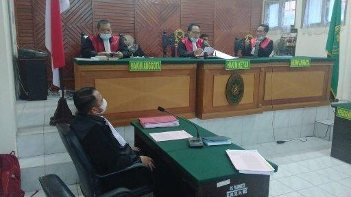 Sidang lanjutan perkara politik uang di PN Tarakan dengan agenda tuntutan PJU terhadap terdakwa, Selasa (1/12/2020). (foto: istimewa)