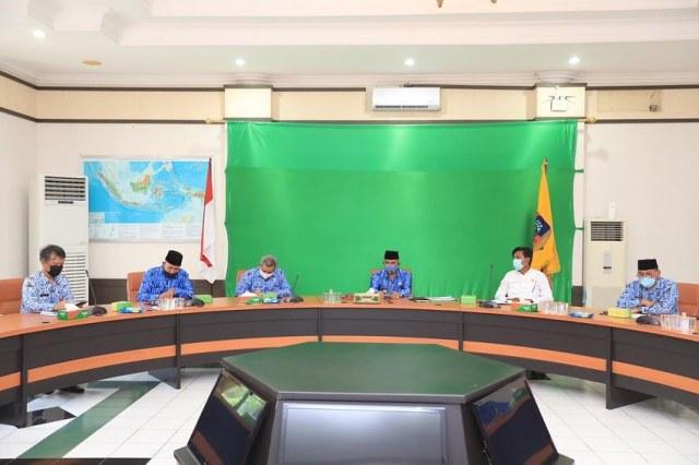 Pertemuan antara Pemkot Tarakan, DPRD dan Forum Guru Honor Kota Tarakan di ruang kerja Wali Kota Tarakan, Senin (18/1/2021), membahas seleksi penerimaan guru P3K. (foto: Humas Setda Tarakan).