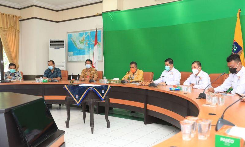 Wali Kota Tarakan dr. H. Khairul M.Kes melakukan audiensi dengan pengurus Kadin Tarakan, Kamis (28/1/2021).  (foto: Humas Setda Tarakan)