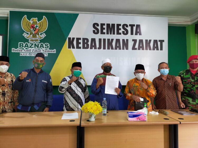 Tokoh rmas Islam di Tarakan menyampaikan aspirasi gabungan ormas Islam di kantor Baznas Tarakan, Sabtu (23/1/2021). (foto: jendelakaltara.co)