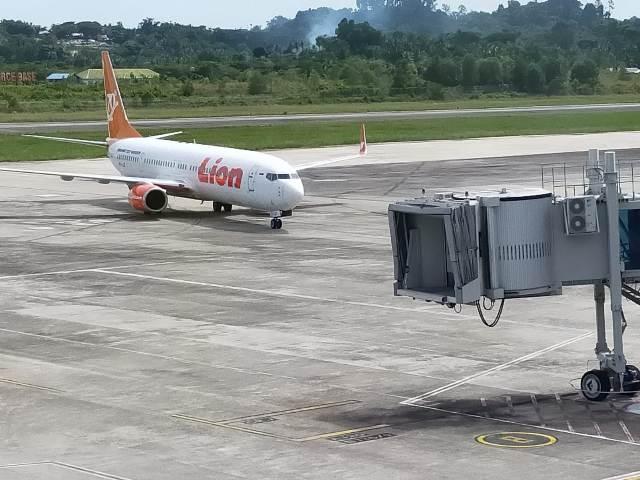 Lion Air, salah satu maskapai yang melayani penerbangan di Bandar Udara Juwata Tarakan. (foto: jendelakaltara.co)