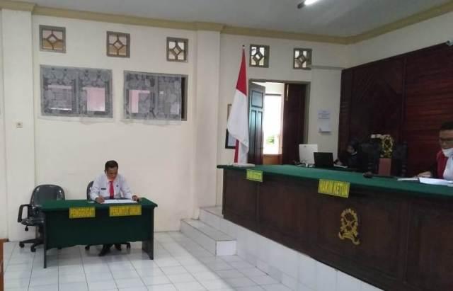 Sidang pelanggaran terhadap Perda Nomor 13 Tahun 2002 di PN Tarakan, Kamis (14/1/2021).