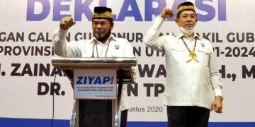 Pasangan Calon Gubernur dan Wakil Gubernur Kaltara pemenang Pilkada 2020,  Drs. H. Zainal Arifin Paliwang SH M.Hum (kiri) dan Dr. Yansen TP M.Si. (foto: jendelakaltara.co).