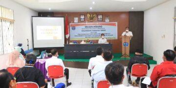 Wali Kota Tarakan dr. H. Khairul M. Kes menghadiri Musrenbang Tingkat Kecamatan Tarakan Timur di gedung serbaguna Kantor Kecamatan Tarakan Timur, Rabu (24/2/2021). (foto: Humas Setda Tarakan)