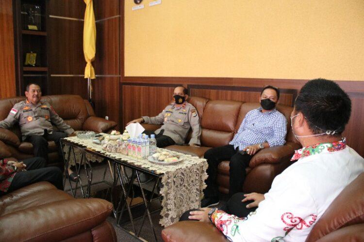 Kapolda Kaltara Irjen Pol Drs. Bambang Kristiyono M.Hum dan jajarannya menerima kunjungan PGPI Kaltara, Kamis (25/2/2021).