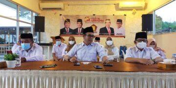 Konferensi pers DPD Partai Gerindra Kaltara di Tarakan dalam rangka HUT ke 13 Partai Gerindra, Jumat (5/2/2021). (foto: jendelakaltara.co)