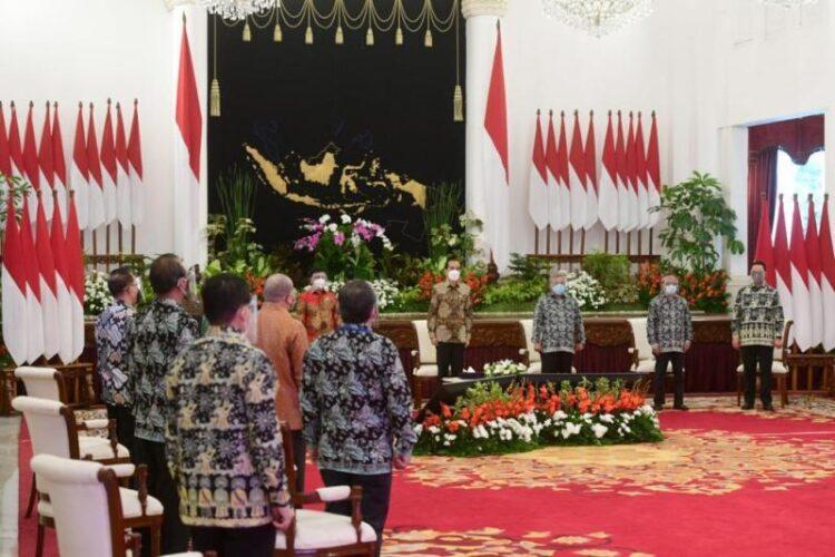 Presiden Joko Widodo hadir secara virtual Puncak Peringatan Hari Pers Nasional (HPN) Tahun 2021 dari Istana Negara, Jakarta, Selasa (9/2/2021). (foto: Biro Pers, Media, dan Informasi Sekretariat Presiden)