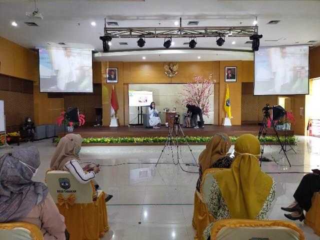 Talk show tentang penyakit MIS-C di Auditorium RSUD Tarakan lantai enam, Kamis (25/3/2021). (foto: jendelakaltara.co)