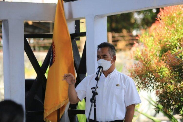 Wali Kota Tarakan dr. H. Khairul M.Kes menyampaikan arahannya saat menghadiri pembukaan Musrenbang Tingkat Kecamatan Tarakan Barat, Rabu (3/3/2021). (foto: Humas Setda Tarakan)