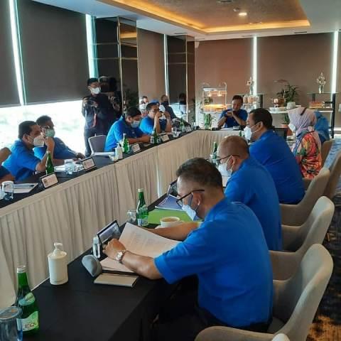 Wali Kota Tarakan dr. H. khairul M.Kes menghadiri Rakernas Apeksi di Bogor, Jawa Barat, Sabtu (6/3/2021). (foto: Istimewa)