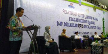 Kepala Kantor Bank Indonesia Perwakilan Kaltara menyampaikan sambutannya di hadapan peserta. (foto: KPwBI Provinsi Kaltara)