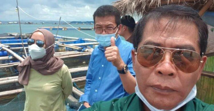 Gubernur Kaltara H. Zainal Arifin Paliwang melakukan studi banding ke budidaya lobster petambak Teluk Jukung, Telong-Elong di Tanjung Ekas, Kabupaten Lombok Timur, NTB, Senin (8/9/2021). (foto: Diskominfo Provinsi Kaltara)