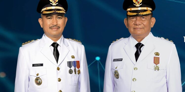 Wali Kota Tarakan dr. H. Khairul M.Kes (kiri) dan Wakil Wali Kota Tarakan Effendhi Djuprianto. (foto: Humas Setda Tarakan)