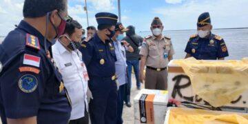 Hasil perikanan Kaltara siap diekspor melalui pelabuhan Perikanan SKPT Sebati di Sei Pancang, Rabu (3/3/2021). (foto: Humas Setda Nunukan)