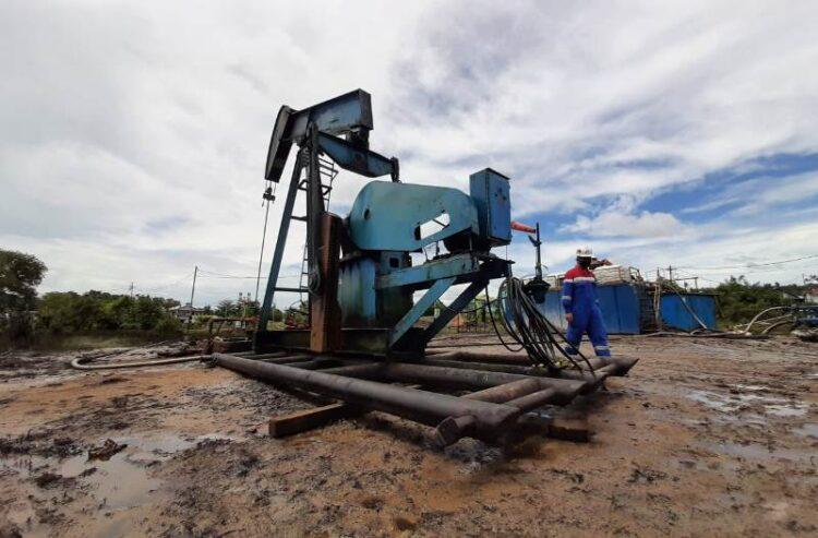 Pompa di sumur PAM-235 mulai difungsikan lagi untuk memproduksi minyak mentah. (foto: Pertamina Asset 5 Tarakan Field)