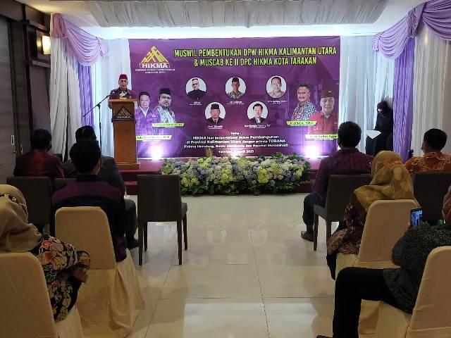 Pelaksanaan Muswil DPW HIKMA Kaltara dan Muscab II DPC HIKMA Tarakan di Hotel Tarakan Plaza, Sabtu (3/4/2021) berlangsung dengan protokol kesehatan. (foto: jendelakaltara.co)