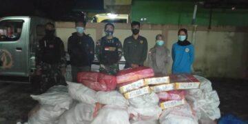 30 paket daging ilegal asal Malaysia ditahan di Sebatik, Kabupaten Nunukan. (foto: Balai Karantina Pertanian Tarakan)