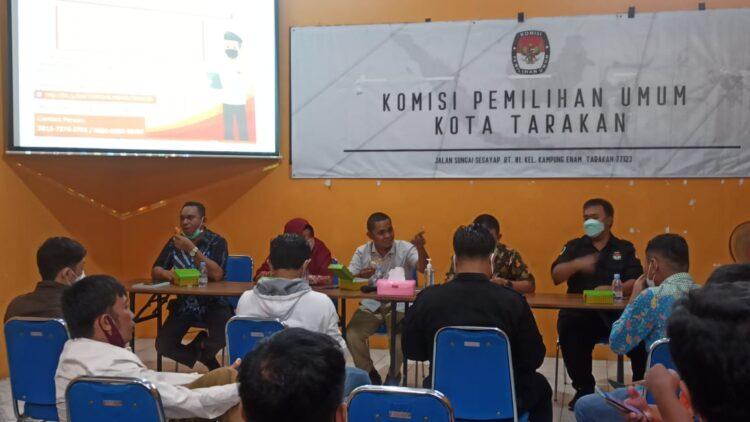 Rapat koordinasi KPU Tarakan dan stake holder terkait di Sekretariat KPU Tarakan, Selasa (25/5/2021). (foto: Istimewa)