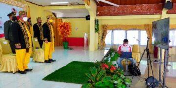 Wawali Tarakan Effendhi Djuprianto bersama Forkopimda mengikuti upacara peringatan Hari Lahirnya Pancasila secara virtual, Selasa (1/6/2021). (foto: jendelakaltara.co)