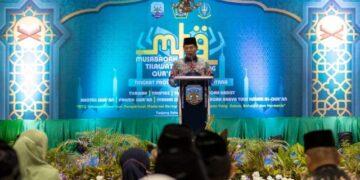 Gubernur Kaltara Zainal A. Paliwang menyampaikan sambutan pada penutupan MTQ ke-6 Tingkat Kaltara, Minggu (20/6/2021). (foto: DISKP Kaltara)